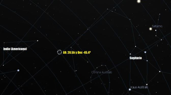 Un punto en el cielo con cuatro constelaciones
