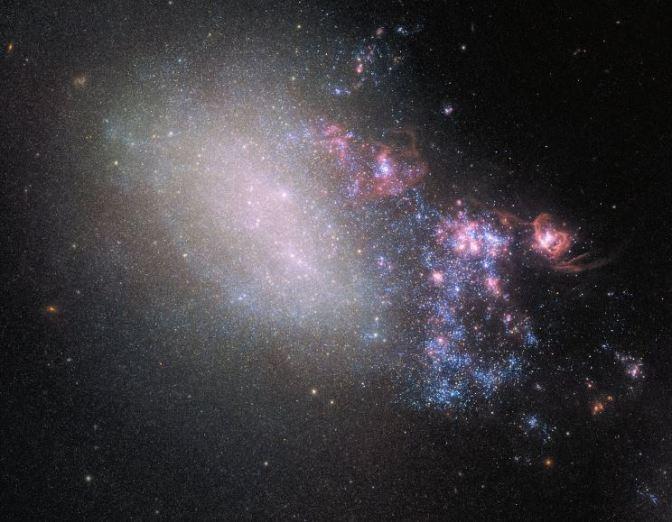Un Choque Cósmico que genera millones de estrellas