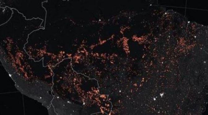 Los terribles incendios del amazonas desde el espacio