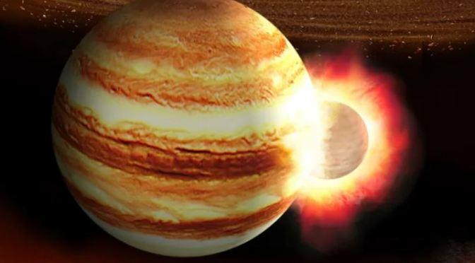 Un planeta chocó contra júpiter hace miles de millones de años