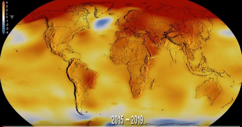La temperatura media de la Tierra sigue PREOCUPANTEMENTE en aumento