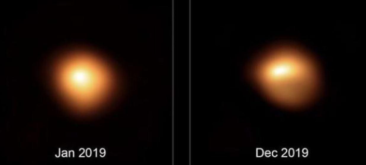 La estrella Betelgueuse observada en detalle, está cambiando su forma…
