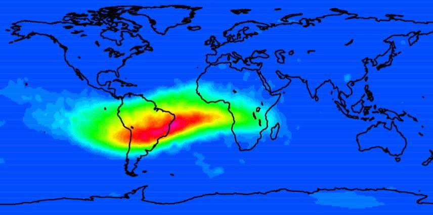El campo magnético de la Tierra se está debilitando: La anomalía del Atlántico sur