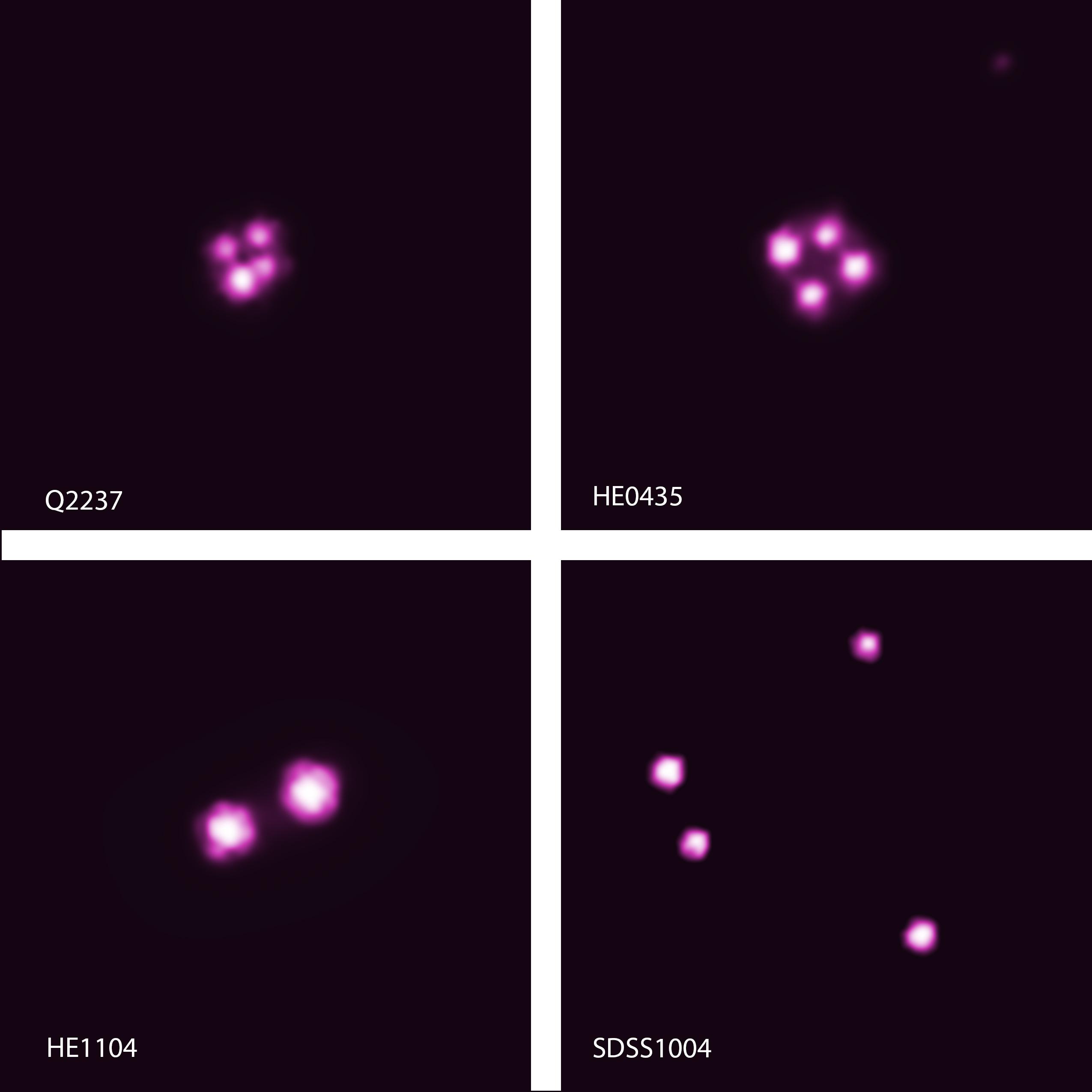 El impresionante giro de cinco agujeros negros supermasivos