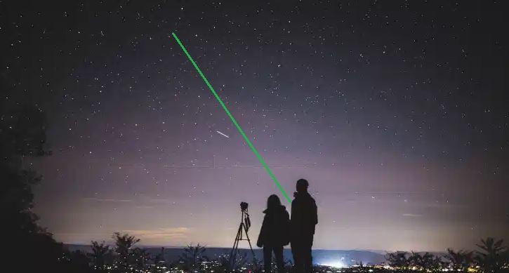 El uso de Punteros láser verdes para la divulgación de la astronomía