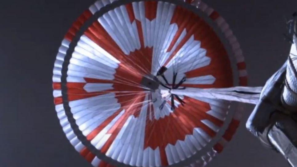 El mensaje cifrado del paracaídas del rover perseverance
